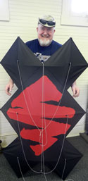 finished kite with maker